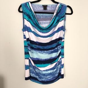 Ann Taylor Cowl Neck Sleeveless Top Size Small